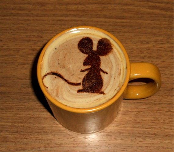 На кофе трафарет лучшие торты