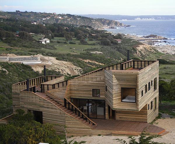Дизайн деревянного дома в Чили