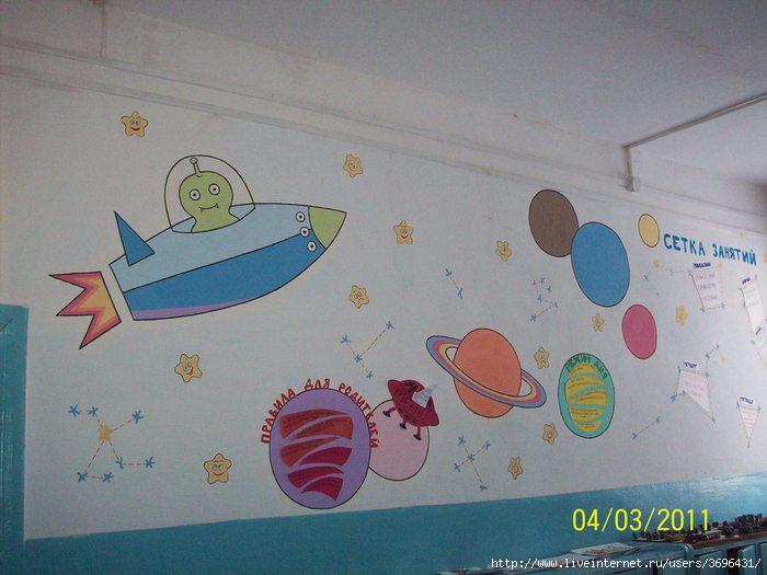 Уголок космоса в детском саду своими руками