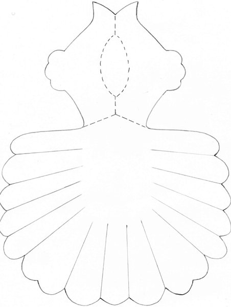 Шаблон голубя из бумаги своими руками поэтапно