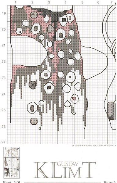 Схема для вышивки. Климт
