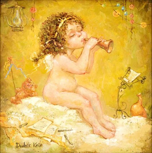 Ангел с дудочкой (530x535,  130Kb)