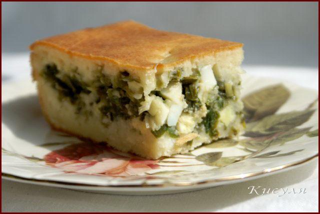 Быстрый (заливной) пирог