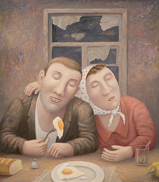 Vladimir Lubarov.A late supper (523x600, 264Kb)