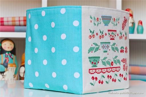 Текстильный короб для хранения вещей своими руками