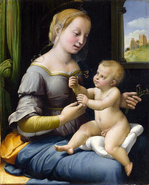 Raphael_Madonna_of_the_Pinks (484x600, 136Kb)