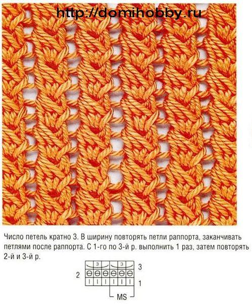 Узоры (спицами и крючком) сетчатый-узор-спицами-1.