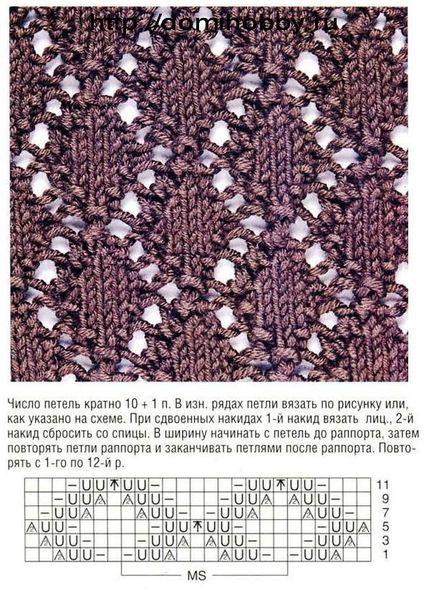 Светлана Соколова. сетчатый узор спицами 5. Svetlana Ermachenko. в. 0. Handmade.