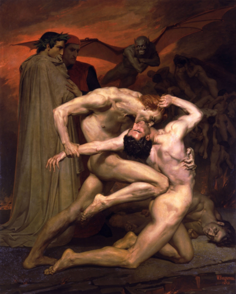William-Adolphe_Bouguereau_(1825-1905)_-_Dante_And_Virgil_In_Hell_(1850) (482x600, 307Kb)