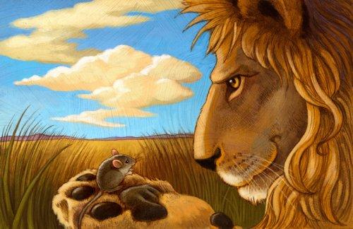"""Лев и мышь"" - ""El leon y el raton"", басня Эзопа на испанском языке, аудиокнига"