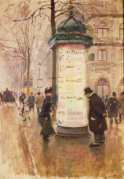 Jean Béraud  «La colonne Morris» (417x600, 52Kb)