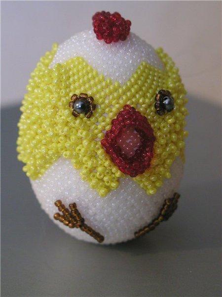 оплетение яйца бисером схемы.