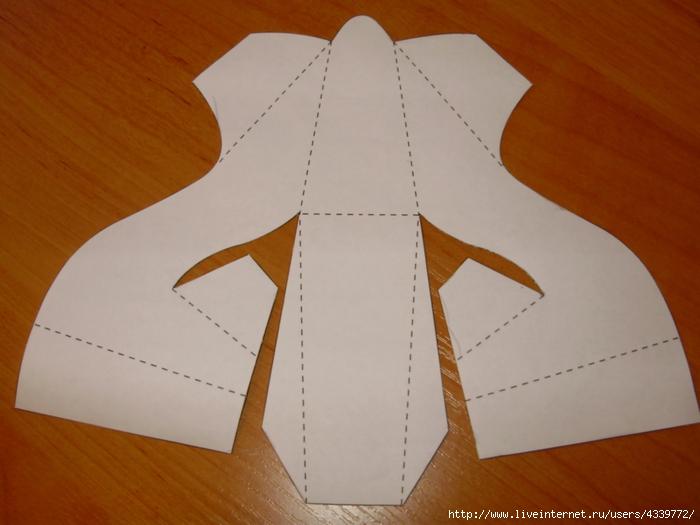 Как сделать своими руками из бумаги туфельку