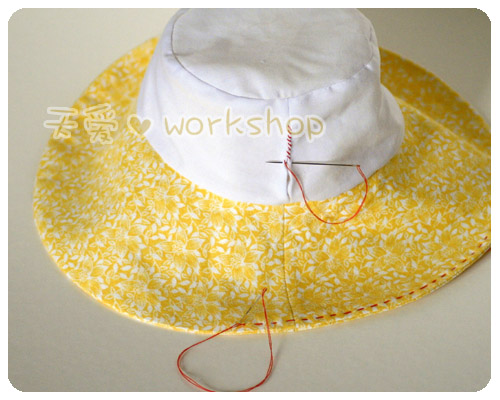 Еще один очень интересный фото-мастер-класс пошива шляпы для лета.