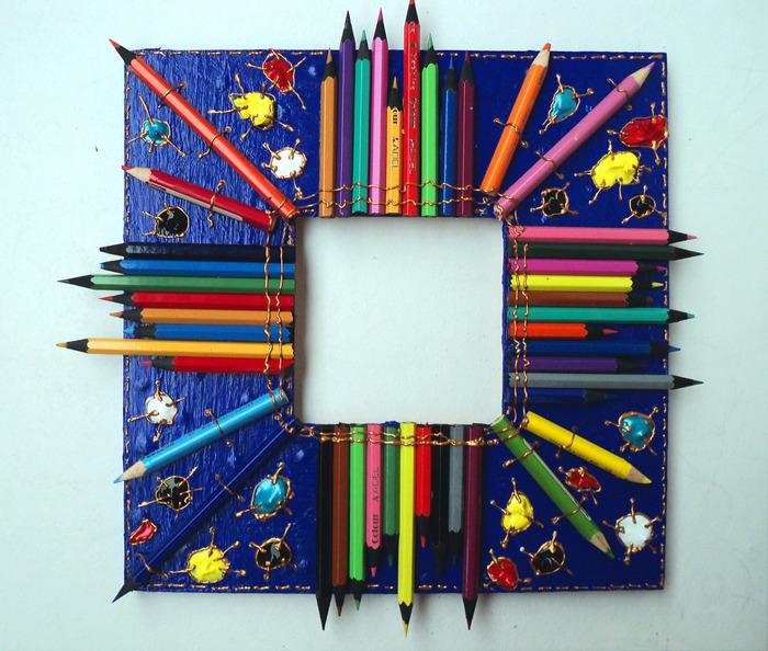 Рамка из карандашей своими руками