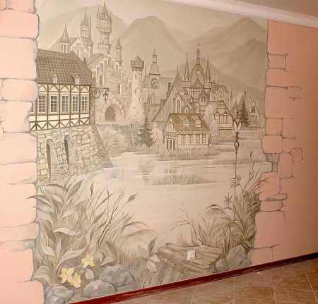 Рисунки картины на стене