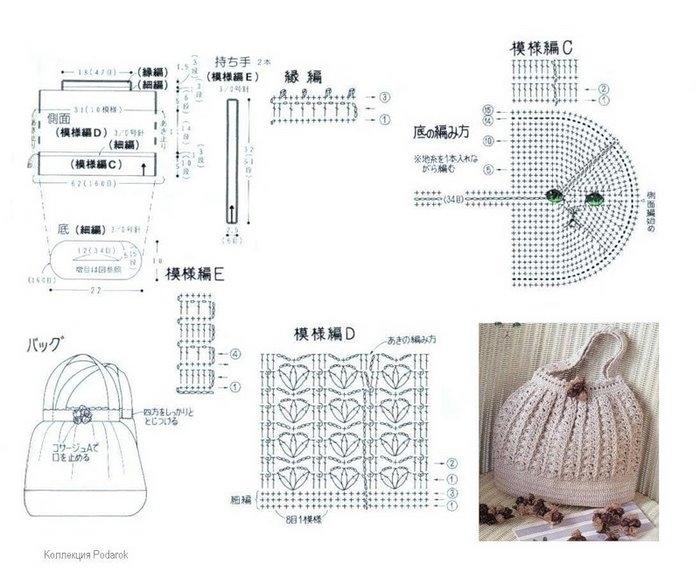 Схема сумок своими руками крючком