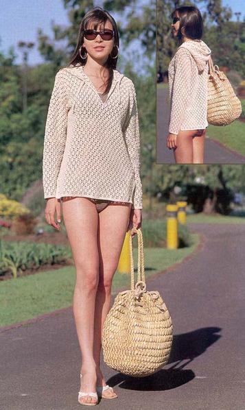 Описание: b Схемы вязания пляжных туник крючком.