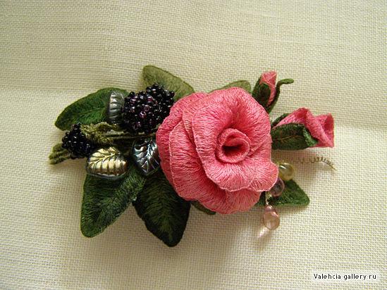 Объемная вышивка Валентины