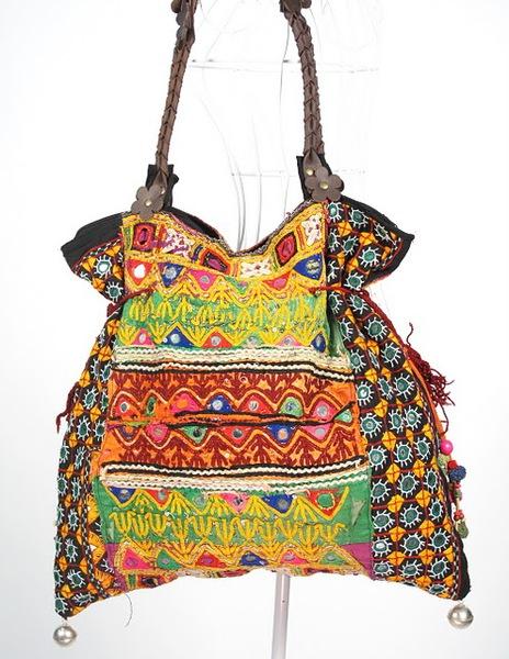 Bright Color Hippie Boho Vintage Textile Bag 1 (464x600, 107Kb)