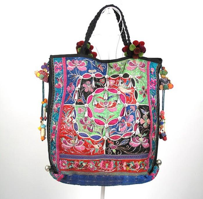 Tribal Vintage Fabric Women Boho Bag 1 (700x686, 137Kb)