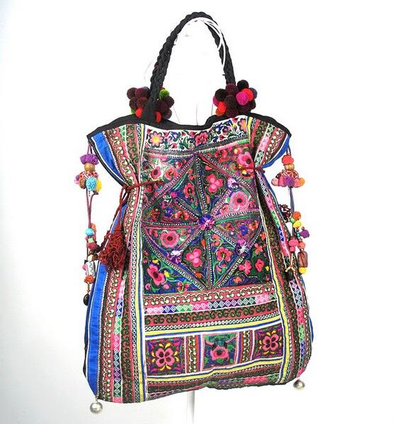 Tribal Vintage Textile Oversize Hippie Boho Bag 1 (558x600, 111Kb)