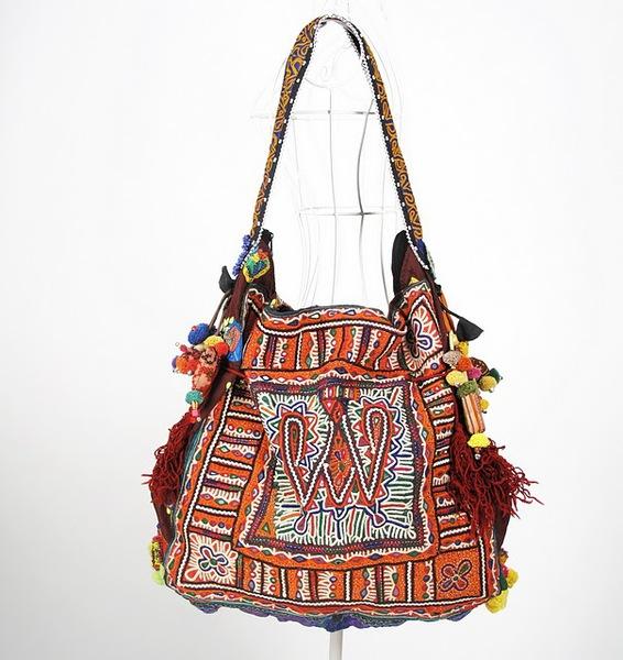 Vintage Tribal Fabric Hippie Boho Bag 1 (566x600, 99Kb)