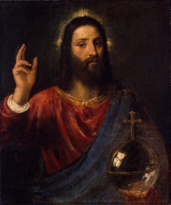 Тициан - Христос-Вседержитель, Эрмитаж (581x700, 74Kb)