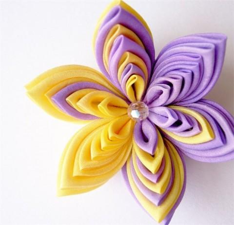 Класс по изготовлению цветов из ткани