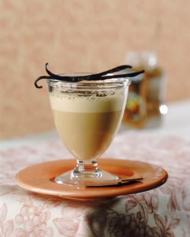 1 желток, 1/2 стакана молока, 1 дес. ложку сахара, 1 ч. л. какао...