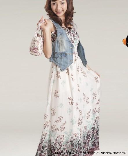 Оригинальное описание для Летнее шифоновое платье. размер . чистый...