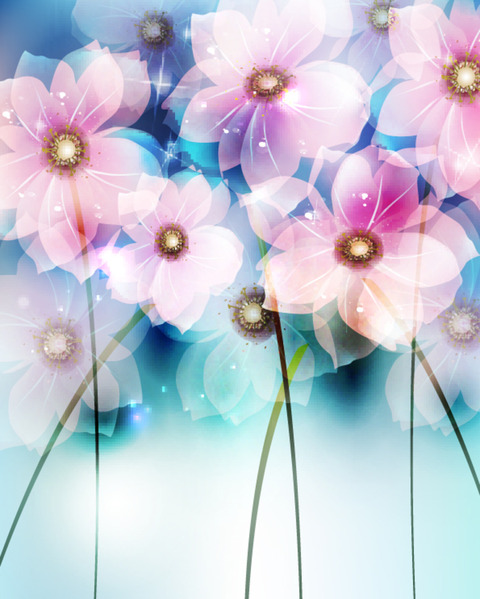 Abstract Flower Backgrounds 21 (480x600, 90Kb)