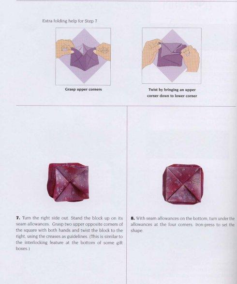 Оригами - цветы из ткани