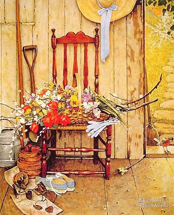 Norman Rockwell 1894-1978-Spring Flowers 1969 (567x700, 405Kb)