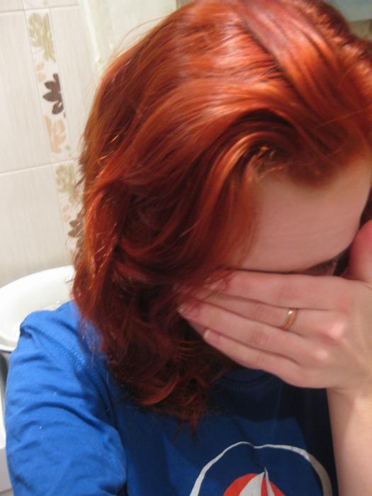 как закрасить красный цвет волос