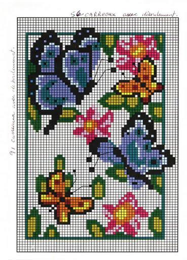 1Papillons Pt de croix patron 2006-07 (369x512, 65Kb)
