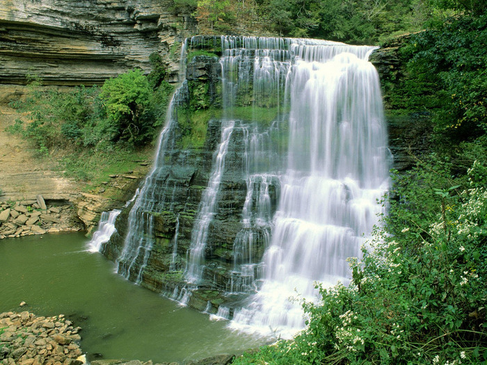Burgess Falls State Natural Area, Sparta, Tennes (700x525, 218Kb)
