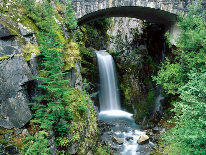 Christine Falls, Mount Rainier National Park, Wa (700x525, 252Kb)