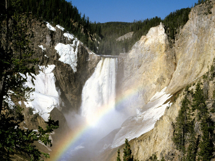 Colors, Lower Falls, Yellowstone National Park,  (700x525, 173Kb)