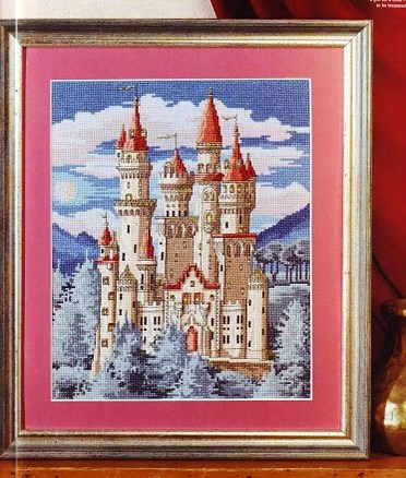 embroidered pictures: fairytale castle