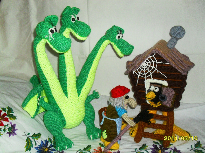 Схема вязания змея горыныча