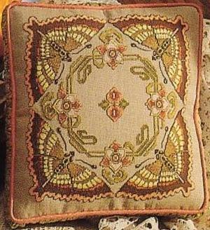 Sepia Butterflies Pillow (300x328, 32Kb)
