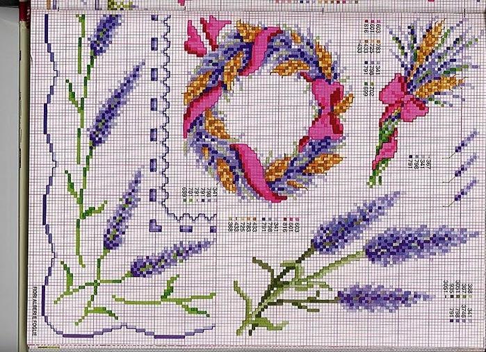 Вышивка крестом лаванда прованс 384