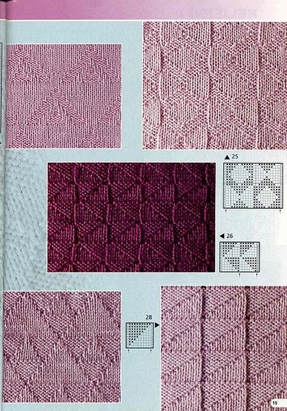 Узоры вязания свитера мужского.