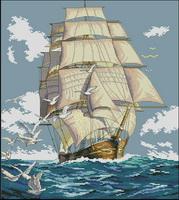 Dimensions 03886 Clipper Ship Voyage (179x200, 21Kb)