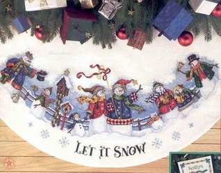 Dim08618 Snow Carolers tree skirt (318x250, 42Kb)
