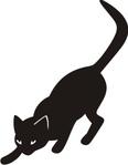 """Схема вышивки  """"Черная кошка """" ."""