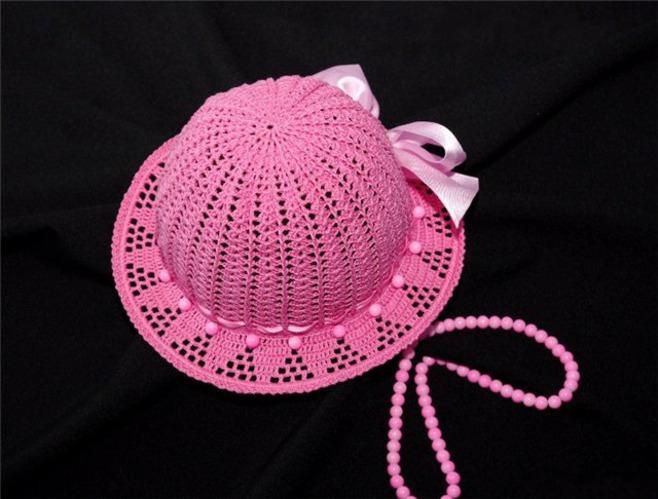 Шляпки для девочек вязать крючком