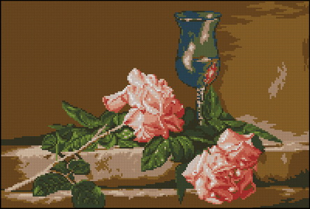 Goblenset 668 Natura cu trandafiri (444x300, 62Kb)