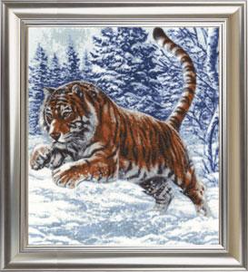 Вышивка тигры и львы